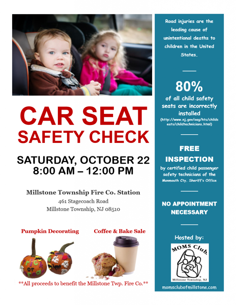 Millstone MOMS Club Present FREE Car Seat Safety Check